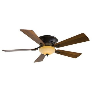 """MinkaAire Delano II 52"""" 5 Blade Delano II Hugger Ceiling Fan with Blades and Integrated Halogen Light Included"""