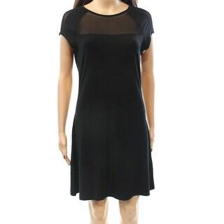 Tart NEW Black Illusion Mesh Women's Size Medium M Sheath Dress $132 #478