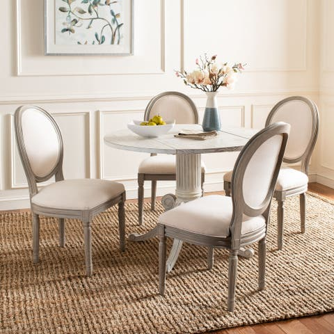 """Safavieh Dining Old World Holloway Light Beige Oval Dining Chairs (Set of 2) - 19.8"""" x 20"""" x 39"""""""
