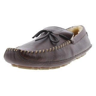 Trask Mens Polson Leather Shearling Lined Driving Moccasins