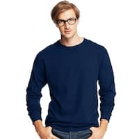 Hanes Men's TAGLESS® Comfortsoft® Long-Sleeve T-Shirt - Size - S - Color - Navy