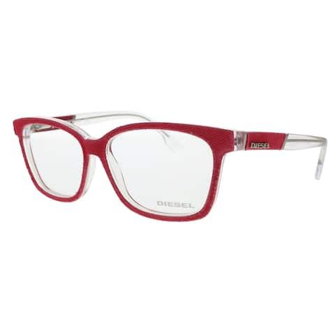 Diesel DL5137 068 Red Rectangle Optical Frames - 55-14-140