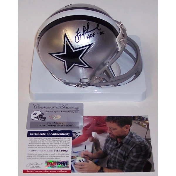 9723bf9a7 Shop Troy Aikman Autographed Hand Signed Cowboys Mini Helmet - PSA DNA -  Free Shipping Today - Overstock.com - 12785084