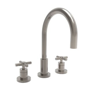 Newport Brass 990 East Linear Double Handle Widespread Lavatory Faucet with Metal Cross Handles