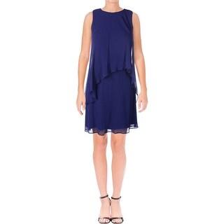 Lauren Ralph Lauren Womens Party Dress Overlay Knee-Length
