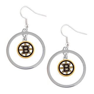 Boston Bruins Hoop Logo Earring Set NCAA Charm