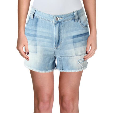 3736a1a3de Kensie Womens Wide Leg Shorts Slouchy Pleated. Details · Kensie Womens  Denim Shorts Frayed Hem Distressed