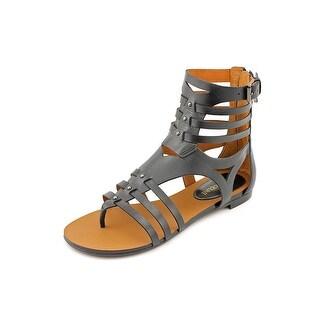 Enzo Angiolini Makalya Open Toe Leather Gladiator Sandal