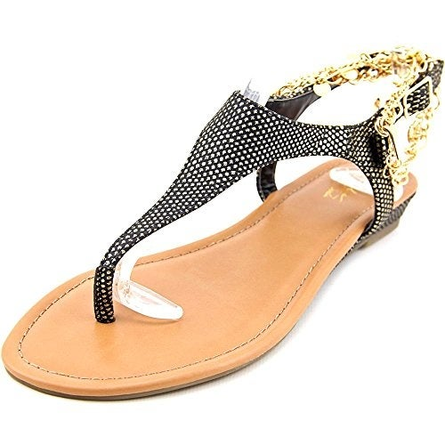 Thalia Sodi Womens Lara Fabric Split Toe Casual T-Strap Sandals