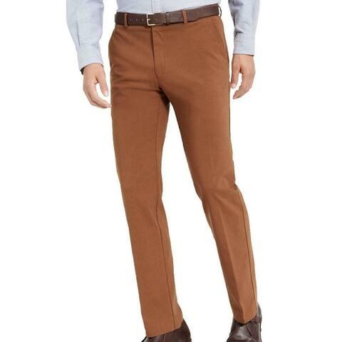 Tommy Hilfiger Mens Dress Pants Brown Size 40x32 Flex Slim Fit Stretch