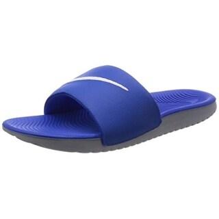 Nike Boys Kawa Slide (Gs/Ps) Sandal, Hyper Cobalt/White