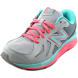 New Balance KJ790 Youth Round Toe Synthetic Gray Sneakers