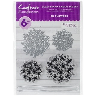 Crafter's Companion Stamps By Chloe Stamp & Die Set-3D Flowers