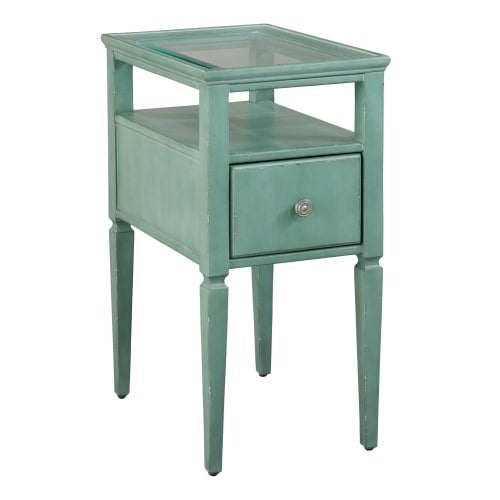 Hekman 27460 14 Inch Wide Gl Top Wood End Table Free Shipping Today 26938914