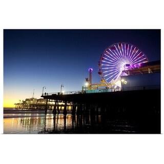 """Santa Monica"" Poster Print"