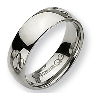 Titanium 7mm Polished Band (More options available)