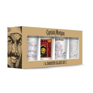 Captain Morgan 190443001419 Shot Glasses - Set of 4