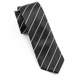 Men's Black Striped Tie