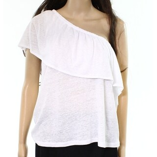Melrose & Market NEW White Women Size Medium M One Shoulder Popover Knit Top 254