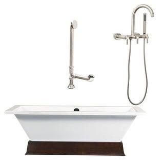 """Giagni LT3 Tella 66"""" Free Standing Soaking Tub Package - Includes Tub, Tub Plint"""