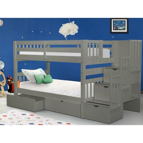 Taylor & Olive Trillium Twin-over-Twin Bunk Bed with Storage Drawers