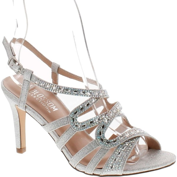 De Blossom Collection Womens Rita-6 Strappy Dress Heel Sandals