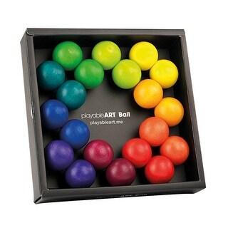 PlayableArt Rainbow Wooden Ball Set - Fidget Toy Gadget