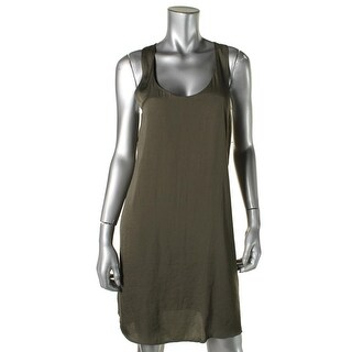 Trouve Womens Sateen Hi-Low Slip Dress