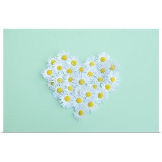 """Little daisy in heart shape."" Poster Print"