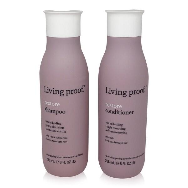 Living Proof Restore Shampoo 8 Oz and Restore Conditioner 8 Oz Duo.