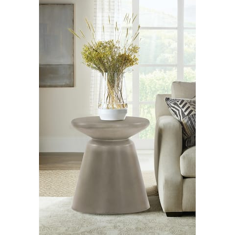 Umbre Concrete Indoor Outdoor Accent Stool End Table