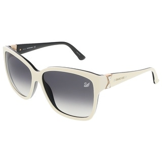 Swarovski SK0057/S 25B Shiny Ivory/Black Square sunglasses