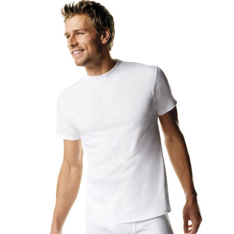 Hanes Men's TAGLESS® ComfortSoft® Crew Undershirt Tall 3-Pack - Size - 2XLT - Color - White