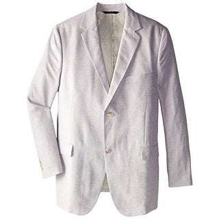 Perry Ellis Mens Big & Tall Linen Heathered Two-Button Blazer - 50L