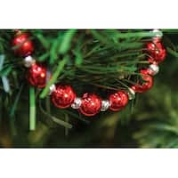 Silver & Red Bead Garland - 6ft