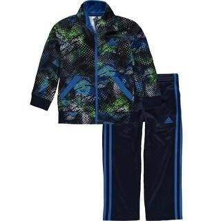 Adidas Little Boys 4-7X Digital Fusion Tricot Set - ROYAL BLUE