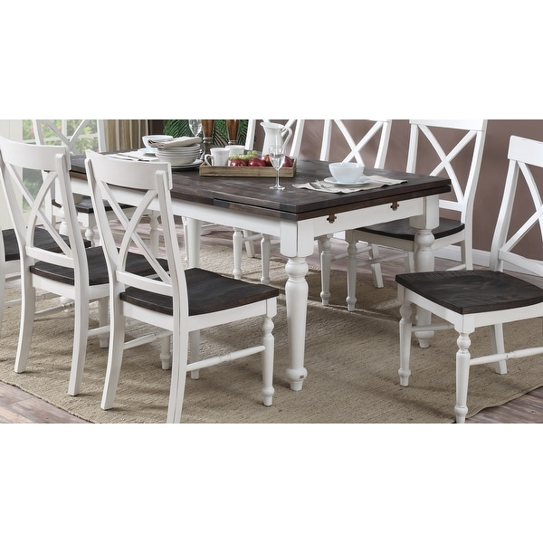 The Gray Barn Crooked Cottage Extension Dinette Table - Antique White. Opens flyout.