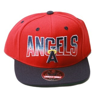 Anaheim Angels MLB Snapback Red/Navy + Includes GT Sweat Wristband