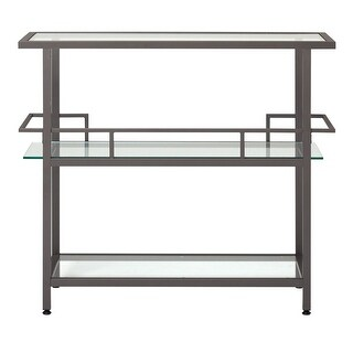 Offex Piloti Bar - Pewter/Clear Glass