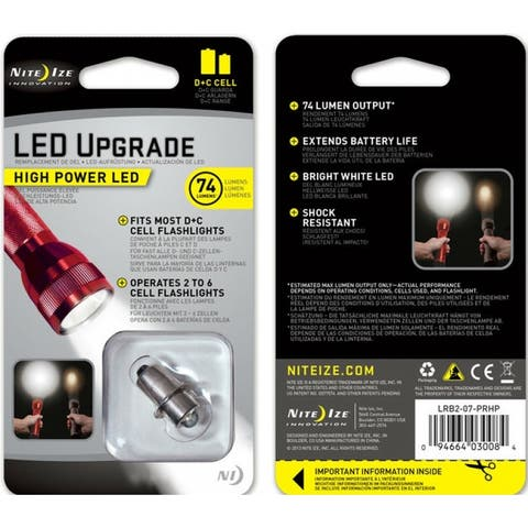 "Nite Ize LRB2-07-PRHP High Power LED Upgrade Kit for Most ""C"" or ""D"" Cell Flashlights"