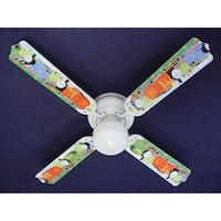 Blue Thomas the Train Print Blades 42in Ceiling Fan Light Kit - Multi