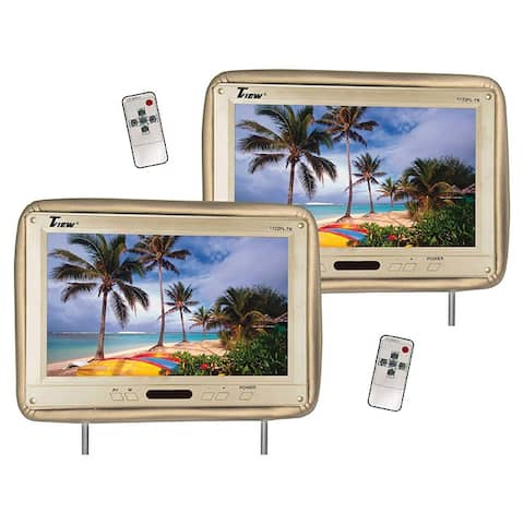 Tview t122pl-tn tview 12.1 headrest monitor ir transmitter remotes tan pair