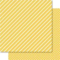"Gold - Bella Hearts & Stripes Foiled Cardstock 12""X12"" (5 Pack)"