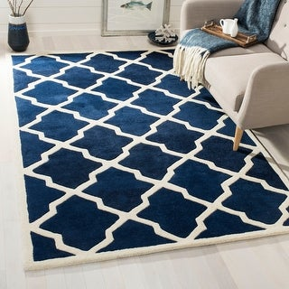 Link to Safavieh Handmade Chatham Eppie Modern Moroccan Wool Rug Similar Items in Transitional Rugs