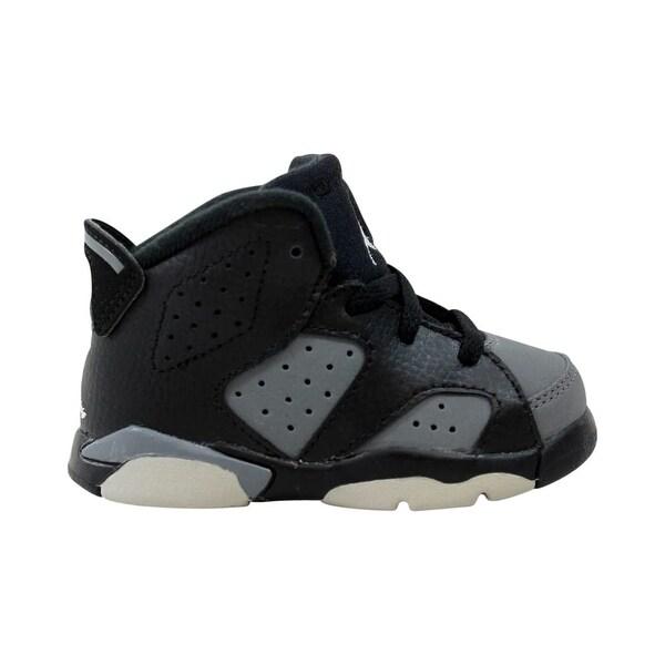 new concept a79fe bc605 Nike Toddler Air Jordan VI 6 Retro BT Black/White-Cool Grey 384667-010 Size  5