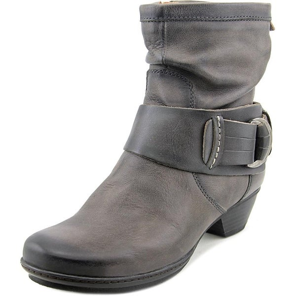 8cdcc619162 Shop Pikolinos Brujas Ankle Women Round Toe Leather Gray Bootie ...