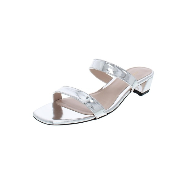 e16a5b02db0d Shop Stuart Weitzman Womens Ava Slide Sandals Metallic Patent ...