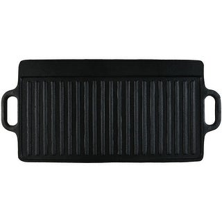 Sunnydaze Cast Iron Reversible Grill Griddle Pre-Seasoned Pan Large 20-Inch