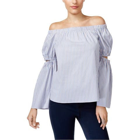 Bar Iii Womens Off The Shoulder Baby Doll Blouse