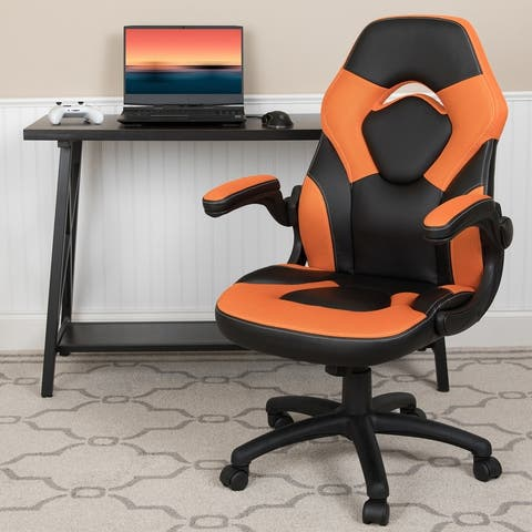 High Back Racing Style Ergonomic Gaming Chair with Flip-Up Arms
